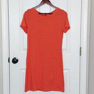 Red & White Striped Mini T-shirt Dress NWOT Sz M